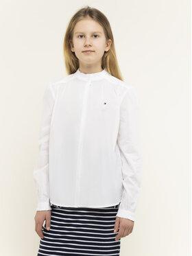Tommy Hilfiger Tommy Hilfiger Koszula Essential Ruffle KG0KG04980 D Biały Regular Fit