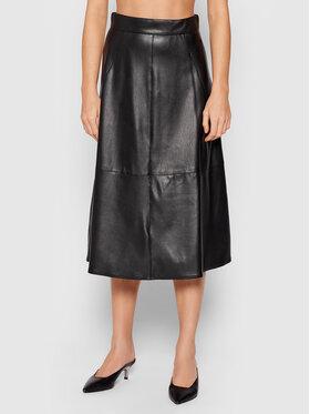 Marella Marella Jupe en simili cuir Omelia 37760118 Noir Regular Fit