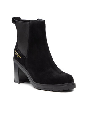 Tommy Hilfiger Tommy Hilfiger Čizme Th Outdoor High Heel Boot FW0FW05998 Crna