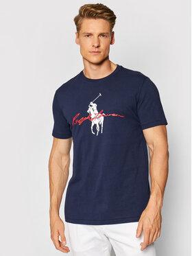 Polo Ralph Lauren Polo Ralph Lauren T-shirt Ssl 710839050002 Tamnoplava Slim Fit