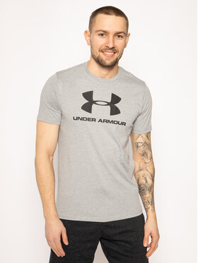 Under Armour Under Armour T-Shirt Ua Sportstyle Logo 1329590 Szary Regular Fit