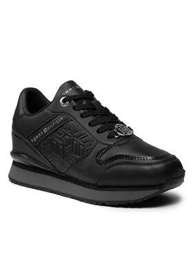 Tommy Hilfiger Tommy Hilfiger Sneakersy Dressy Wedge Sneaker FW0FW05936 Čierna