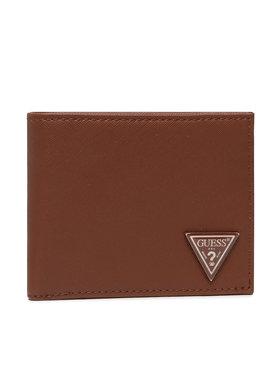 Guess Guess Malá pánska peňaženka Certosa Slg SMCERT LEA20 Hnedá