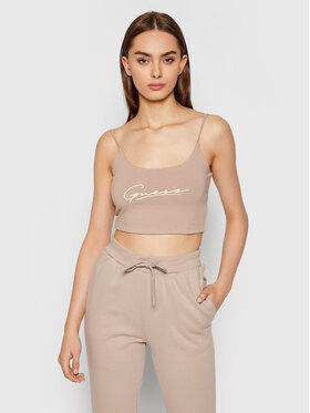 Guess Guess Top Dolly O1BA10 KASI1 Beige Slim Fit