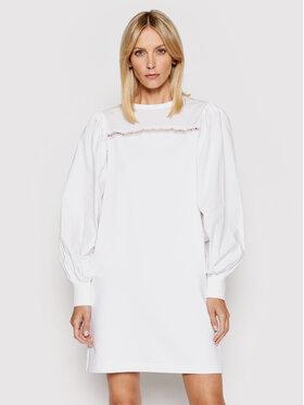 KARL LAGERFELD KARL LAGERFELD Kasdieninė suknelė Fabric Mix Sweat 211W1360 Balta Regular Fit