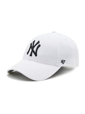 47 Brand 47 Brand Șapcă New York Yankees B-MVP17WBV-WHF Alb