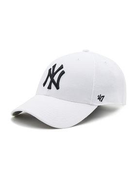 47 Brand 47 Brand Шапка с козирка New York Yankees B-MVP17WBV-WHF Бял