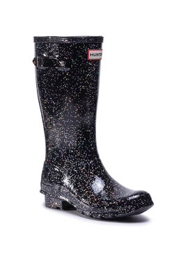 Hunter Hunter Гумени ботуши Org Kids Giant Glitter Boots JFT6075RGT Черен