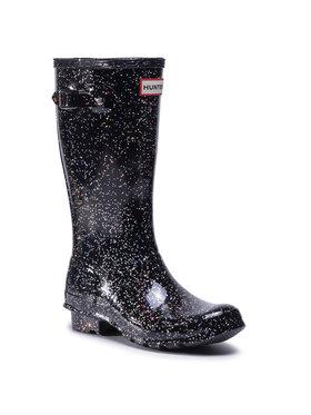 Hunter Hunter Guminiai batai Org Kids Giant Glitter Boots JFT6075RGT Juoda