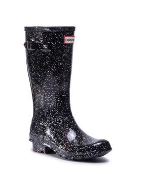 Hunter Hunter Wellington Org Kids Giant Glitter Boots JFT6075RGT Nero