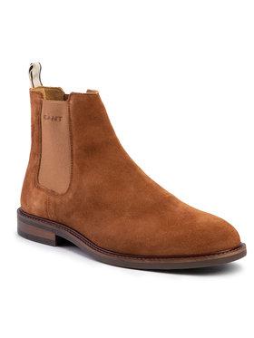 Gant Gant Kotníková obuv s elastickým prvkem Ricardo 19653547 Hnědá