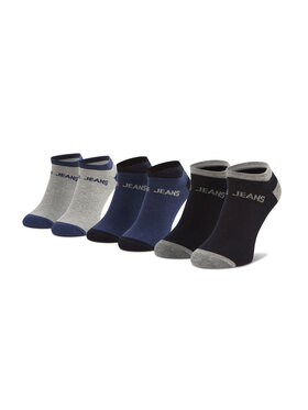 Pepe Jeans Pepe Jeans Комплект 3 чифта къси чорапи мъжки Anthony PMU10658 Сив