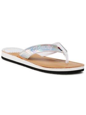 Tommy Jeans Tommy Jeans Flip-flops Iridescent Beach Sandal EN0EN01298 Ezüst