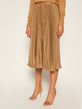 Polo Ralph Lauren Polo Ralph Lauren Plisovaná sukně Skt 211809323001 Hnědá Regular Fit