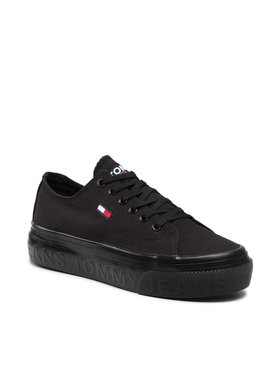 Tommy Jeans Tommy Jeans Tenisówki Flatform Vulc EN0EN01371 Czarny