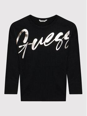 Guess Guess Bluză J1BI26 RA260 Negru Regular Fit