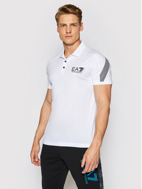 EA7 Emporio Armani EA7 Emporio Armani Polo 3KPF21 PJ02Z 1100 Λευκό Regular Fit