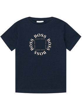 Boss Boss Marškinėliai J25G93 M Tamsiai mėlyna Regular Fit