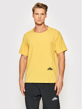 Nike Nike Тениска от техническо трико Rise 365 CZ9050 Жълт Standard Fit