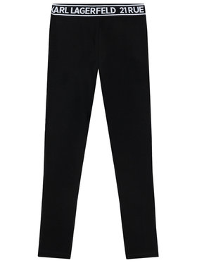 KARL LAGERFELD KARL LAGERFELD Legginsy Z14148 S Czarny Slim Fit