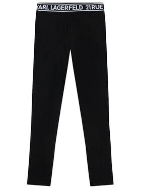 KARL LAGERFELD KARL LAGERFELD Legíny Z14148 S Čierna Slim Fit