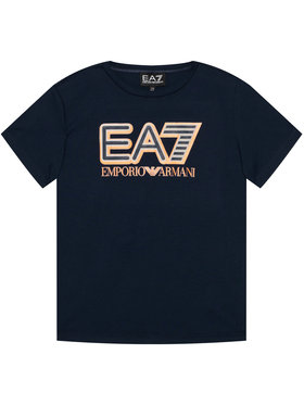 EA7 Emporio Armani EA7 Emporio Armani T-shirt 6HBT53 BJ7CZ 1554 Bleu marine Regular Fit
