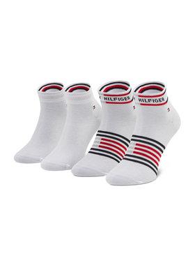 Tommy Hilfiger Tommy Hilfiger 2 pár hosszú szárú férfi zokni 100002212 Fehér