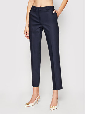 Marella Marella Текстилни панталони Soma 31311111 Тъмносин Slim Fit
