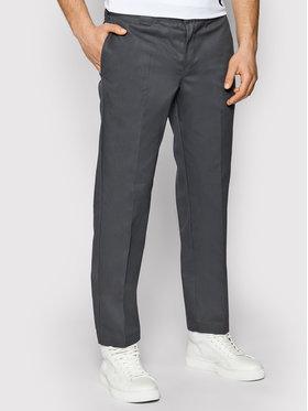 Dickies Dickies Spodnie materiałowe Straight Work DK0WP873 Szary Slim Fit