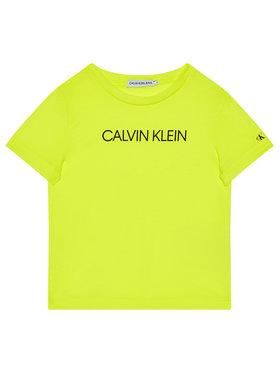 Calvin Klein Jeans Calvin Klein Jeans Marškinėliai Institutional IB0IB00347 Geltona Regular Fit