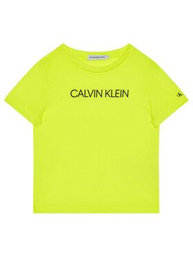 Calvin Klein Jeans Calvin Klein Jeans T-Shirt Institutional IB0IB00347 Κίτρινο Regular Fit