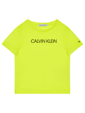 Calvin Klein Jeans Calvin Klein Jeans T-Shirt Institutional IB0IB00347 Żółty Regular Fit