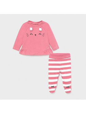 Mayoral Mayoral Completo maglietta e pantaloni 1563 Rosa Regular Fit