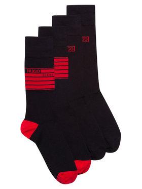 Hugo Hugo 2 pár hosszú szárú férfi zokni 2P Rs Stripe Cc 50437712 Fekete