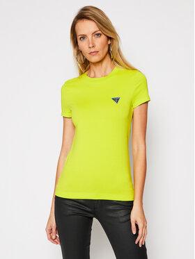 Guess Guess T-Shirt Mini Triangle W1RI04 J1311 Zelená Slim Fit