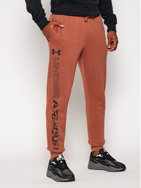 Under Armour Under Armour Spodnie dresowe Ua Rival Fleece Graphic Joggers 1357130 Brązowy Loose Fit