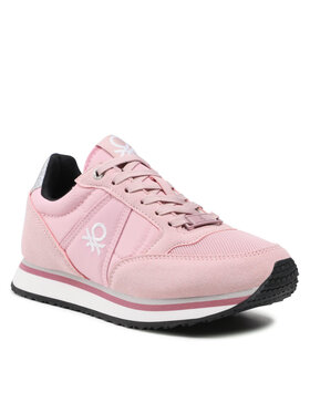 United Colors Of Benetton United Colors Of Benetton Sneakersy Word Nyx BTW123100 Różowy