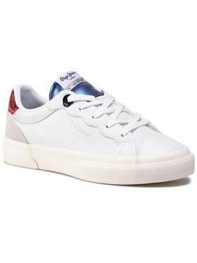 Pepe Jeans Pepe Jeans Sneakersy Kenton Classic Girl PGS30475 Bílá