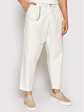 Imperial Imperial Spodnie materiałowe PD2KBLF5KU Biały Relaxed Fit