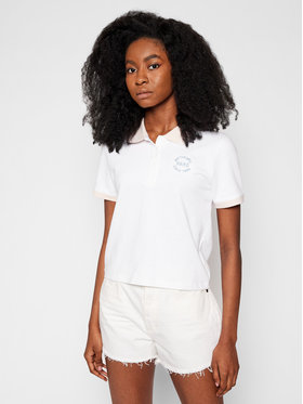 Vans Vans Polo marškinėliai How To Duffy Po VN0A5ATC Balta Regular Fit