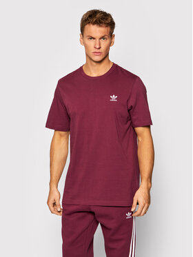 adidas adidas T-Shirt adicolor Essentials Trefoil Tee H34635 Bordowy Regular Fit