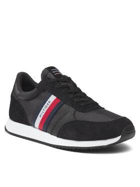 Tommy Hilfiger Tommy Hilfiger Sneakersy Runner Lo Mix Ripstop FM0FM03737 Czarny
