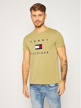 TOMMY HILFIGER TOMMY HILFIGER T-shirt Flag MW0MW14313 Verde Regular Fit