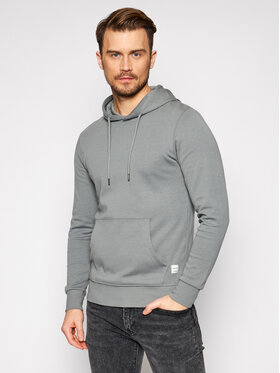Jack&Jones Jack&Jones Sweatshirt JJebasic Sweat Hood Nooos 12182537 Grau Regular Fit