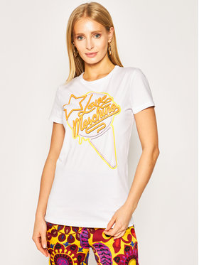 LOVE MOSCHINO LOVE MOSCHINO T-shirt W4F7362E 1698 Bijela Regular Fit