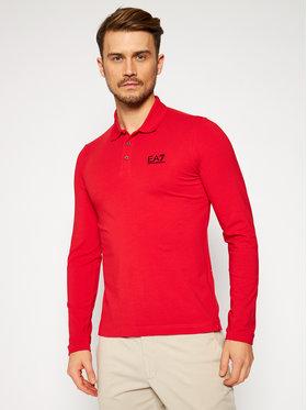 EA7 Emporio Armani EA7 Emporio Armani Polo marškinėliai 8NPF05 PJM5Z 1451 Raudona Slim Fit