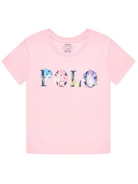 Polo Ralph Lauren Polo Ralph Lauren Marškinėliai Graphic 312837218001 Rožinė Regular Fit