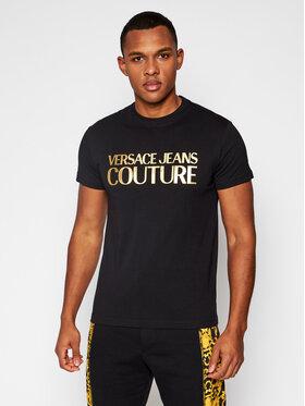 Versace Jeans Couture Versace Jeans Couture Tricou B3GWA7TB Negru Slim Fit