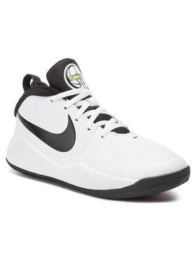 Nike Nike Boty Team Hustle D 9 (Gs) AQ4224 100 Bílá