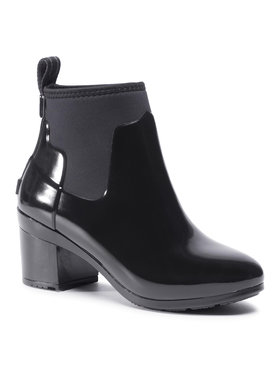 Hunter Hunter Guminiai batai Refined Mid Heel Gloss WFP1012NRG Juoda
